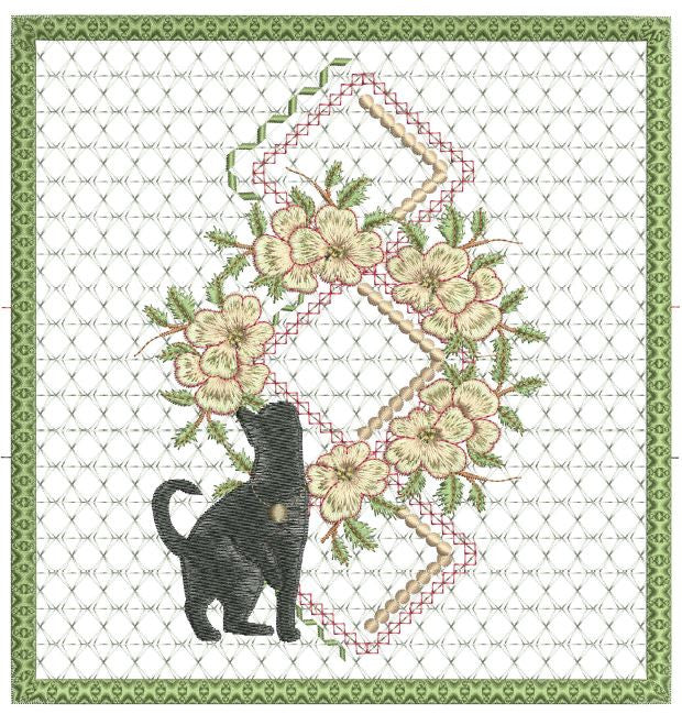 Black Cat Checkbook Cover 8x8