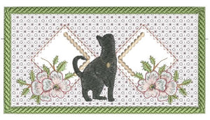 Black Cat Checkbook Cover 5x7