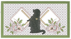 Black Dog Checkbook Cover 5x7