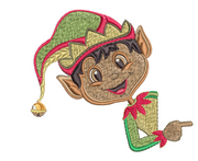 Magic Christmas Pillow Case - Black Boy Elf 4x4