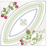 Mock Double Wedding Ring Berries & Blooms Quilt 5x5