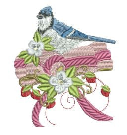 Blue Jay Ribbon 5x7