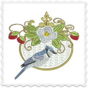 Blue Jays & Berries Bell Pull