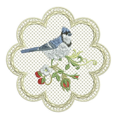 Songbird Lace Edge Coasters
