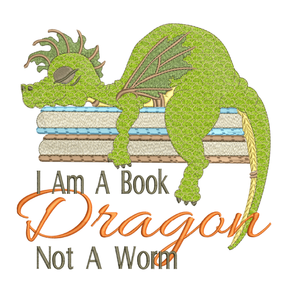 Book Dragon 5x7