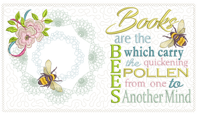 Books Are The Bees Reading Pillow 6x10