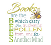 Books Are The Bees Reading Pillow 6x6
