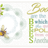 Books Are The Bees Reading Pillow 8x8