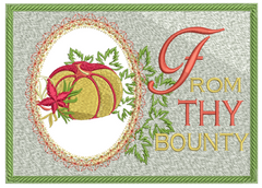 Bountiful Thanksgiving Card