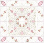 Bullion Rose Trellis Quilt - 6x6