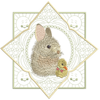 Easter Bunny with Duck 8x8