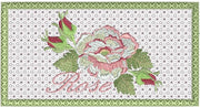 Cabbage Rose Checkbook Cover 5x7