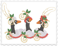 Christmas Geese Pillow -3 Part - 8x12
