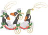 Christmas Geese Pillow -3 Part - 5x7