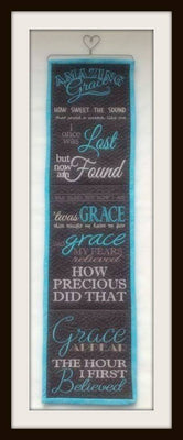Amazing Grace Wall Hanging 8x12