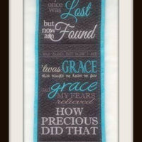 Amazing Grace Wall Hanging 6x10