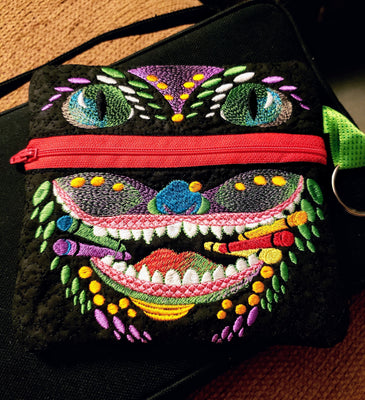 Crayon Monster 6x6 Pouch
