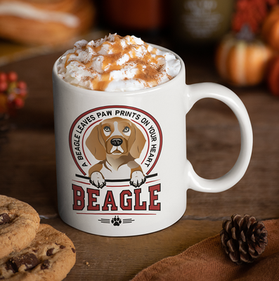 Paws On Your Heart - Beagle Mug