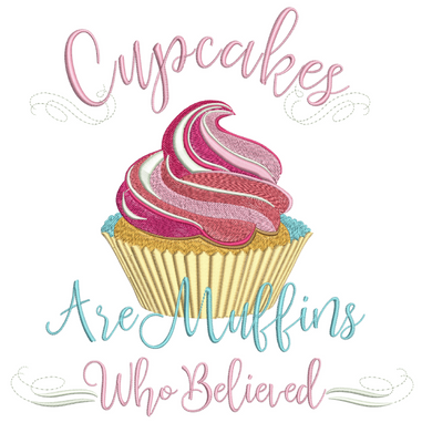 Cupcakes Are Muffins 5X7