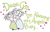 Dear God - Angels Busy  8x14