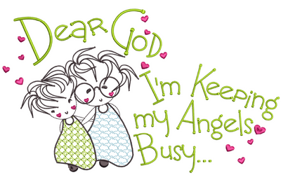 Dear God - Angels Busy  8x8