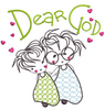 Dear God - Angels Busy 6x6