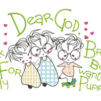 Dear God - Thank You For My Brother 5x7