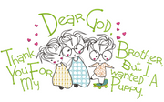 Dear God - Thank You For My Brother 8x12