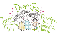 Dear God - Thank You For My Brother 7x11