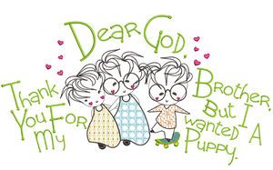 Dear God - Thank You For My Brother 6x6