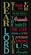 Dear Lord Wall Hanging 6x10