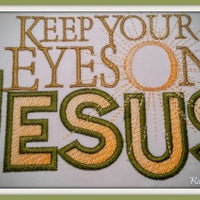 Eyes On Jesus 5x7