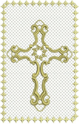 Filigree Cross Eyeglass Case