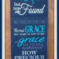 Amazing Grace Wall Hanging 5x7