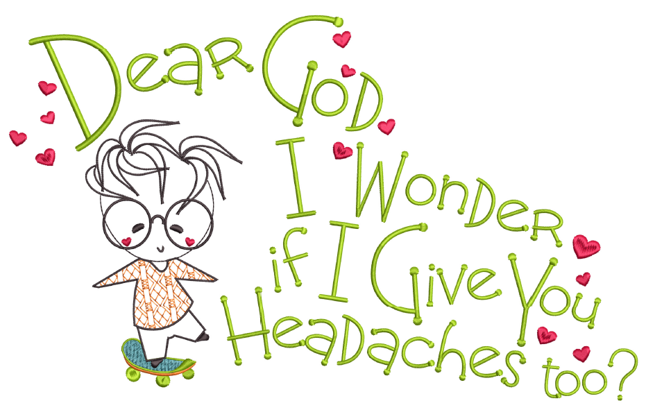 Dear God - Headache  8x14