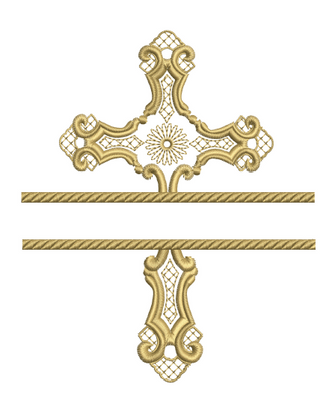 Filigree Cross Split Design