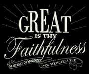 Great Is Thy Faithfulness 8X8