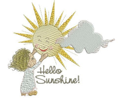 Hello Sunshine-Goodnight Moon 5x7