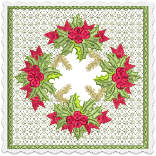 Holly Jolly Checkbook Cover 8x8