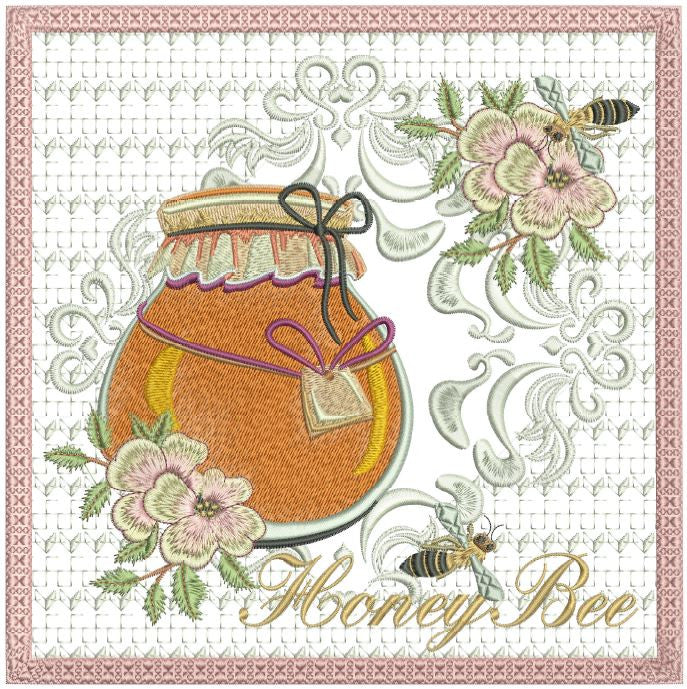 Honey Bee Mug Mat 8x8