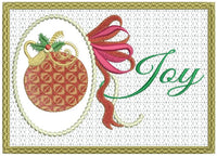 Joy At Christmas Greeting Card