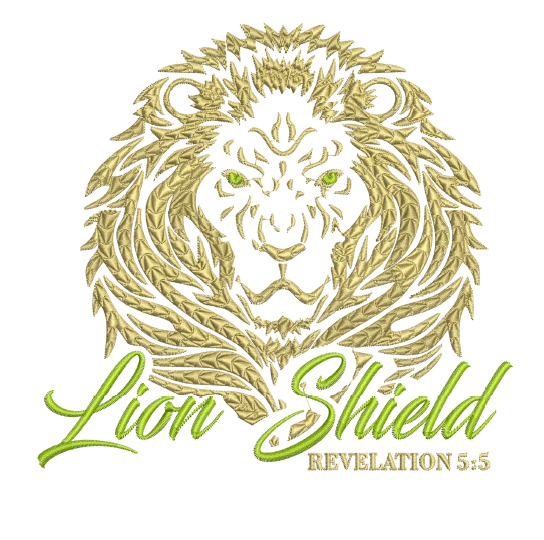 Lion Shield 5x7