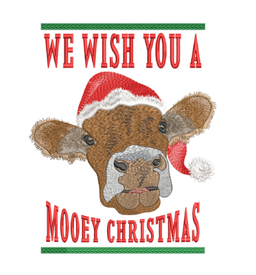 Wish You A Mooey Christmas 8x8