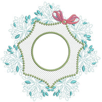 "Nature's ""Leaves"" Monogram Frame 6x6"