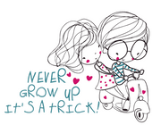 Never Grow Up - It's A Trick! Cutter Design
