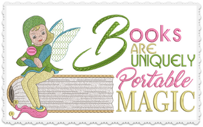 Books Are Portable Magic 5X7