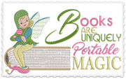 Books Are Portable Magic 6x6