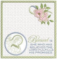 Praying Angel Checkbook Cover 8x8