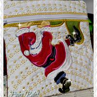 Santa In The Bag 8x8 Pouch