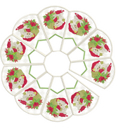 Santa In-The-Hoop Mini Tree Skirt 8x12